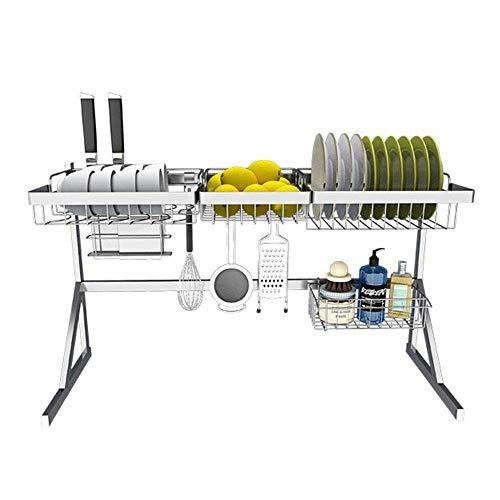 ZUQIEE Estante de cocina Estante de cocina Estante de cocina Estante de acero inoxidable para fregadero, cesta de frutas