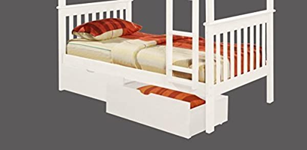 Donco Kids 505W Dual Under Bed Drawer One Size White