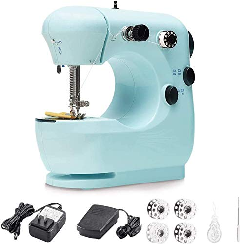 Sewing Machine, Mini Electric Sewing Machines with Foot Pedal and Double Thread, Lightweight Household Sewing Machine for Beginners, Crafting DIY, Quick Repairs, Small Projects