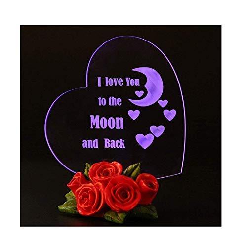 Giftgarden Regalo Anniversario Matrimonio con LED Luce Cuore