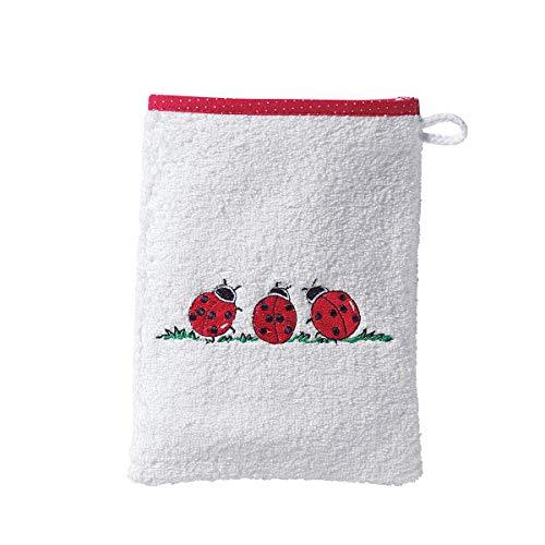 Wörner Gant de toilette gant de toilette bébé, blanc