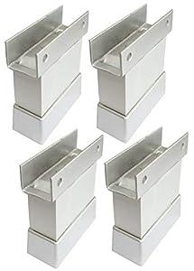AERZETIX: 4x Patas pies ajustables regulables para paneles 18mm madera tablero de aglomerado melamina mdf osb C42683 (Altura 50mm)