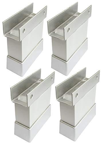 AERZETIX: 4x Piedini regolabili per pannello 18mm in legno truciolare melaminico mdf osb (Altezza 50mm)