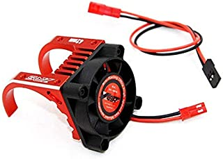 Part & Accessories Card Holder 42MM Waterproof Motor Blower Motor Cooling Fan for 42MM Motor 1/7 1/10 Traxxas UDR EREVO E- Revo 2.0 RC Car Parts - (Color: Red)