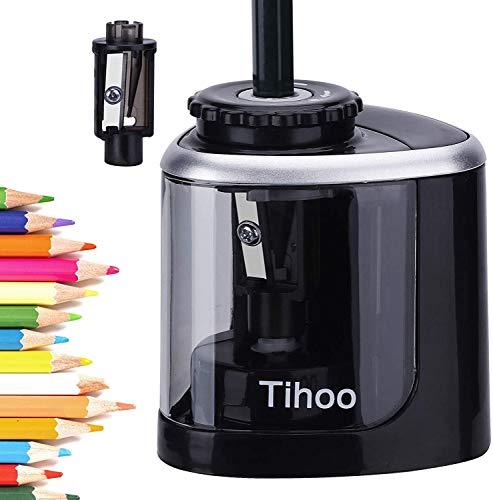 Afilador de lápices, sacapuntas eléctrico de batería, de punta rápida, apto para...