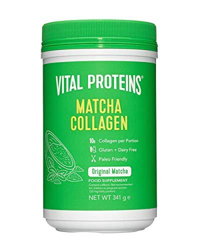 Vital Proteins Matcha Collagen Peptides Powder Supplement, L-theanine & Caffeine, Gluten & Dairy Free, Matcha Green Tea Powder, 341g, Original Flavored