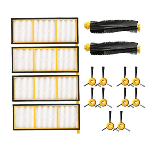 iYBWZH for Shark ION Robot RV750 Replacement Part Accessories Kit Compitable Shark ION Robot RV700 RV720 RV750 RV750C RV755 (Not Fit RV7XX_N) Vacuum Cleaner (Yellow, Style 9)
