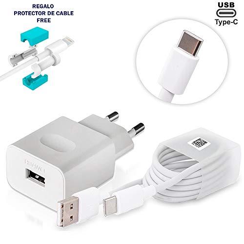 TPC - Cargador Original Huawei AP32 Carga Rápida USB-C para P9, P9 Plus, Mate 9, Mate 20 Lite, Bulk + Regalo