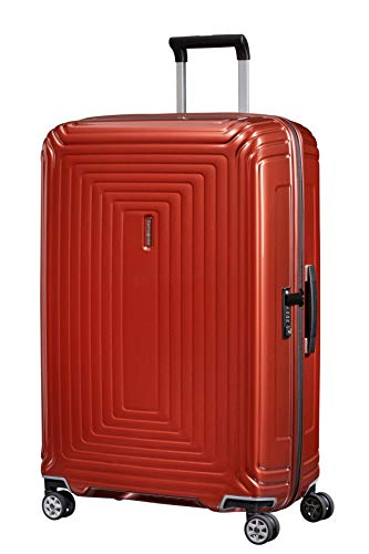 Samsonite Neopulse - Spinner L Suitcase, 75 cm, 94 Litre, Red (Metallic Intense Red)