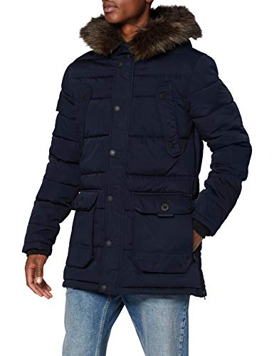 Superdry Mens Chinook Parka, Navy, X-Large