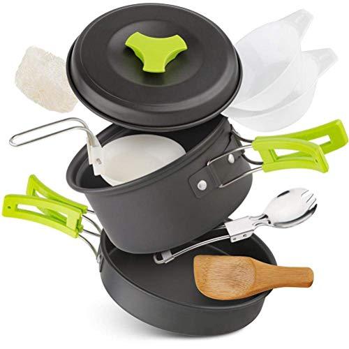 Wopohy Kit de Utensilios de Cocina para Camping Juego de ollas y...