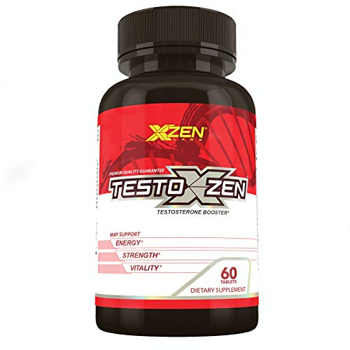 XZEN Men's Testoxzen Testosterone Booster with Estrogen Blocker, Increase Lean Muscle Mass, Supports Fat Loss, Energy, Strength and Stamina - Test Booster with Horny Goat Weed, DHEA - 60 Tablets