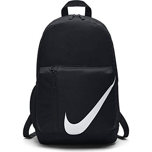 Nike Kids' Elemental Backpack, Kids' Backpack with Comfort and Secure Storage, Black/Black/White
