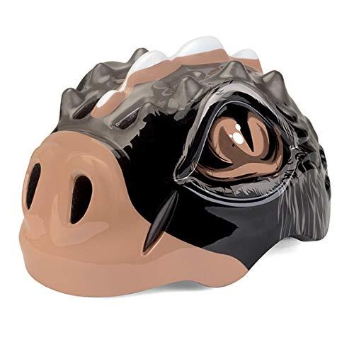 CLOUDH Schutzhelm Dinosaurier mit LED-Licht für Jungen und Mädchen Fahrradhelm Fahrrad-Roller-Fahrrad-Sicherheits-Leicht Einstellbare Breath Helm,A