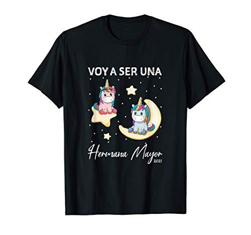Niños Voy a ser una Hermana Mayor 2021 Camiseta