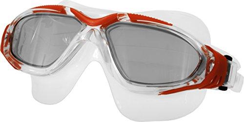 Aqua Speed® Bora Schwimmbrille Goggle Sicherheitsglas AntiFog UV, Farbe:Rot