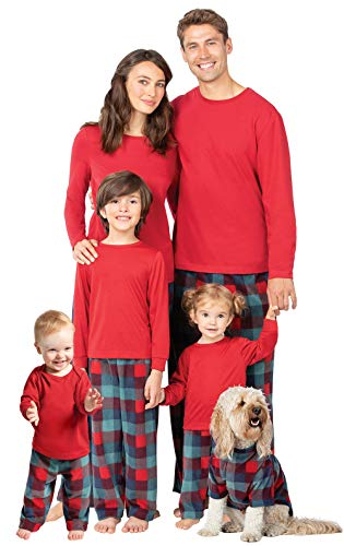 PajamaGram Family Pajamas Matching Sets - Plaid Fleece, 12