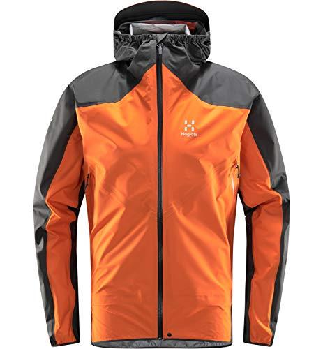 Haglöfs Regenjacke Herren L.I.M Comp Jacket wasserdicht, Winddicht, atmungsaktiv Flame Orange/Magnetite XL XL