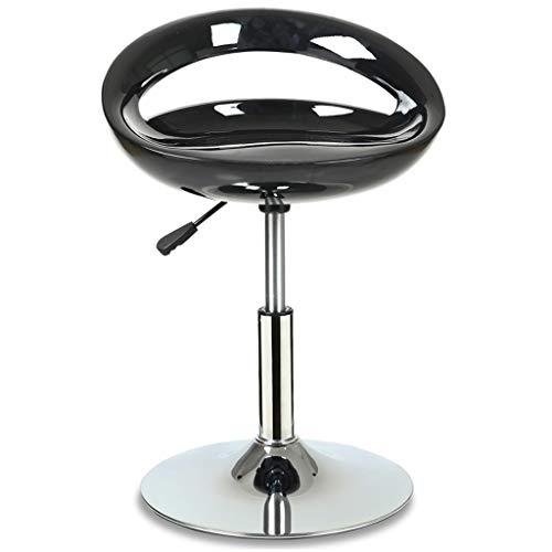 BAR STOOL WGZ - Silla de bar, silla de café, silla elevadora, taburete alto para la familia, taburete alto, color azul y multicolor de moda (color: negro)