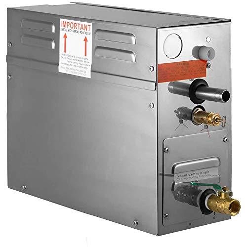 4KW sauna stoomgenerator stoomgenerator draagbare stoomgenerator met de temperatuur digitale controller timer,Silver