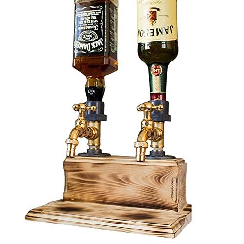 Dispensador de whisky con alcohol y licor en forma de grifo, dispensador de vino para el día del padre, dispensador de jugo y bebida, para cenas de fiesta, bares y estaciones de bebidas,Double