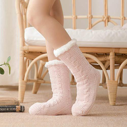 Slippers Zapatillas Unisex Calcetines De Navidad Calcetines De Algodón De Invierno para Mujer Calcetines Antideslizantes