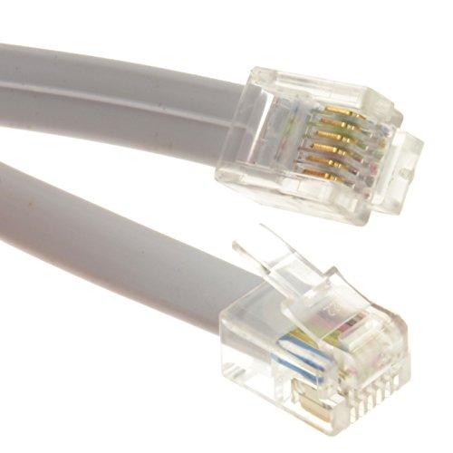Flach RJ12 6p6c Zum RJ12 6p6c Kabel Stecker Zum Stecker RJ11 Mit 6 Draht 0,3 m [0.3 Meter/0,3m]