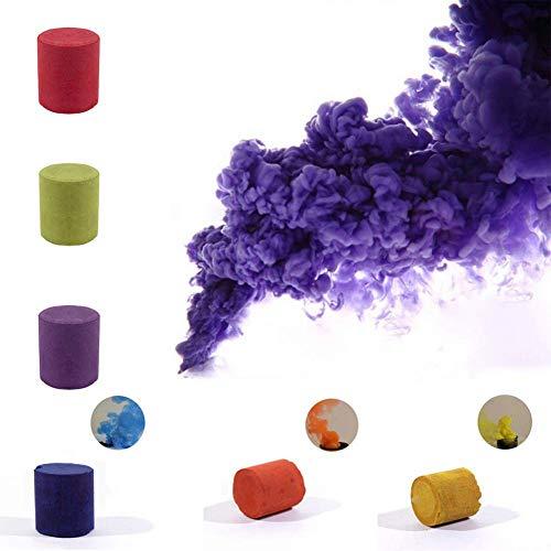 AoJuy 6 Colores de Pastel de Humo Redondo fotografía Props película espectáculo Fiesta Efecto Humo Niebla