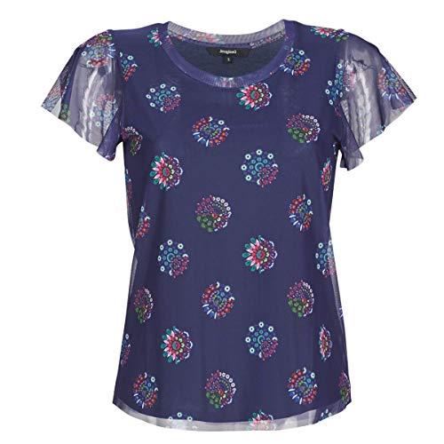 Desigual Damen TS_VARSOVIA T-Shirt, Blau (Estate Blue 5016), Medium (Herstellergröße: M)