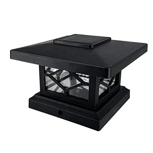 Tixiyu Solar-Pfostenkappenlicht, Säulenlampe für draußen, wasserdicht, Solar-LED-Zaun-Lampen, für Garten, Straße, Outdoor, Park, Terrasse, Tor, Dekoration