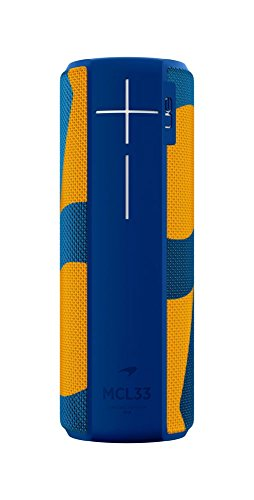 Ultimate Ears Megaboom Tragbarer Bluetooth-Lautsprecher, 360° Sound, Satter Bass, Wasserdicht, Staubresistent & Sturzfest, One-Touch-Musiksteuerung, 20-Stunden Akkulaufzeit - McLaren Edt blau/Orange