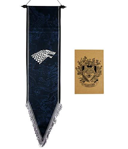 ZCWOLTM Regalos de cumpleaños para la Hija, [167X33CM], Juego de Tronos Banderas para la decoración del Partido