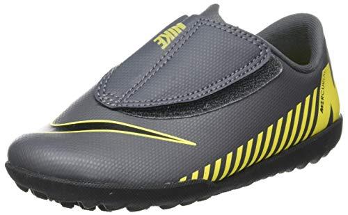 Nike Unisex-Kinder VaporX XII Club (V) TF Fußballschuhe, Grau (Dark Grey/Black-Opti Yellow 070), 28 EU