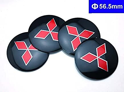 BENZEE 4pcs D131 56.5mm Car Emblem Badge Sticker Wheel Hub Caps Centre Cover MITSUBISHI LANCER