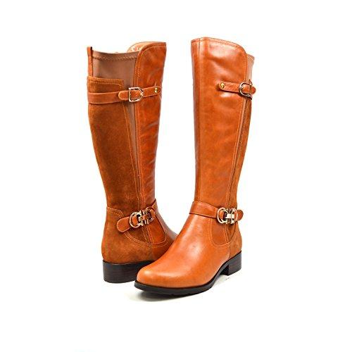 SoleMani Valent 13' Slim Calf Women's Cognac Leather Boot 10