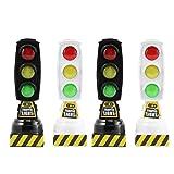 TOYANDONA Juego de 4 juguetes educativos de semillas, con diseño de señales de tráfico