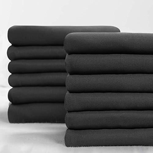 BALICHUN Premium Queen Pillowcase 24 Pack - Standard Dark Grey - 1800 Thread Count - Soft Brushed Microfiber Hypoallergenic - Wrinkle Resistant - Tailoring Iron - Bulk Pillowcases Set of 24