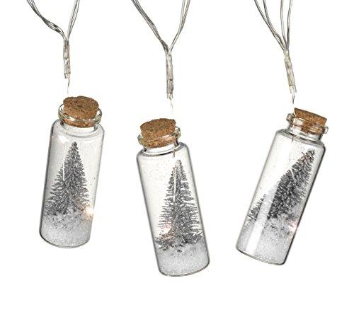 Homes on Trend 1.4M Battery Christmas Tree Mason Jar String Fairy Lights Glass Bottle Garland - Silver