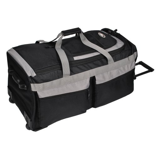 Everest Luggage Rolling Duffel Bag - Large, Black, One Size