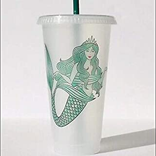 Starbucks Mermaid Reusable Plastic Cold Cup, 24 fl oz