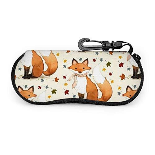 IUBBKI Portable Travel Zipper Sunglasses Hard Case Eyes Glasses Box Bag(Beagle Dog)