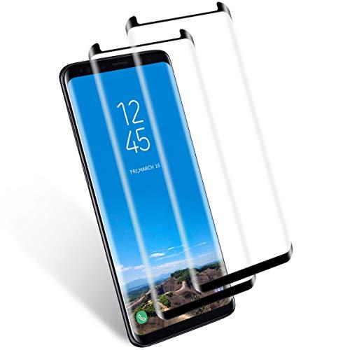2 Stück Panzerglas für Samsung Galaxy S8,3D Ultra-Clear,9H Härte Anti-Kratzen Panzerglasfolie,Anti-Öl Glasfolie,Displayschutzfolie für Samsung Galaxy S8