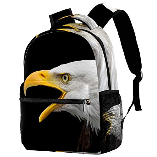 Schultasche Águila de Boca abierta Schulrucksack Tragbar Rucksack wasserdicht Mini Laptoptasche Für Teenager Jungen Mädchen 29.4x20x40cm