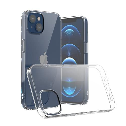 Camste Funda transparente compatible con iPhone 13 de suave TPU ecológico antigolpes – Soporta la carga inalámbrica, no amarillea