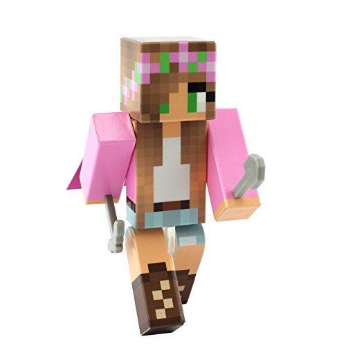 EnderToys Pink Flower Girl Action Figure Toy, 10cm Custom Series Figurines, …