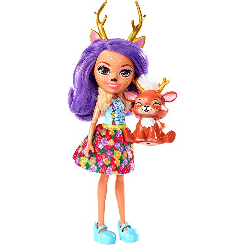 Enchantimals FXM75 - Rehmädchen Danessa Deer Puppe und Tierfreund Sprint