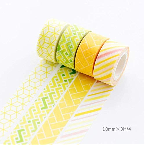 Oulensy 336 PCS//Lot Colorful Dots Washi Tape Japanese Paper DIY Planner Masking Tape Adhesive Tapes Stickers Decorative Stationery Tapes