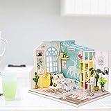 Maril Casa de muñecas en Miniatura Casa de muñecas en Miniatura con Cubierta a Prueba de Polvo Movimiento de relojería de Bricolaje Kit de casa de muñecas en Miniatura Enhanced