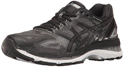 ASICS Women's Gel-Nimbus 19 Running Shoe, Black/Onyx/Silver, 10 D US