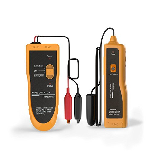Kolsol Underground Wire Locator Cable Tester F02 With Earphone for Locate Wires and Control Wires Cables Pet Fence Wires